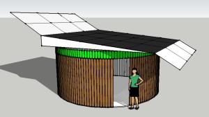 PV rotary garage
