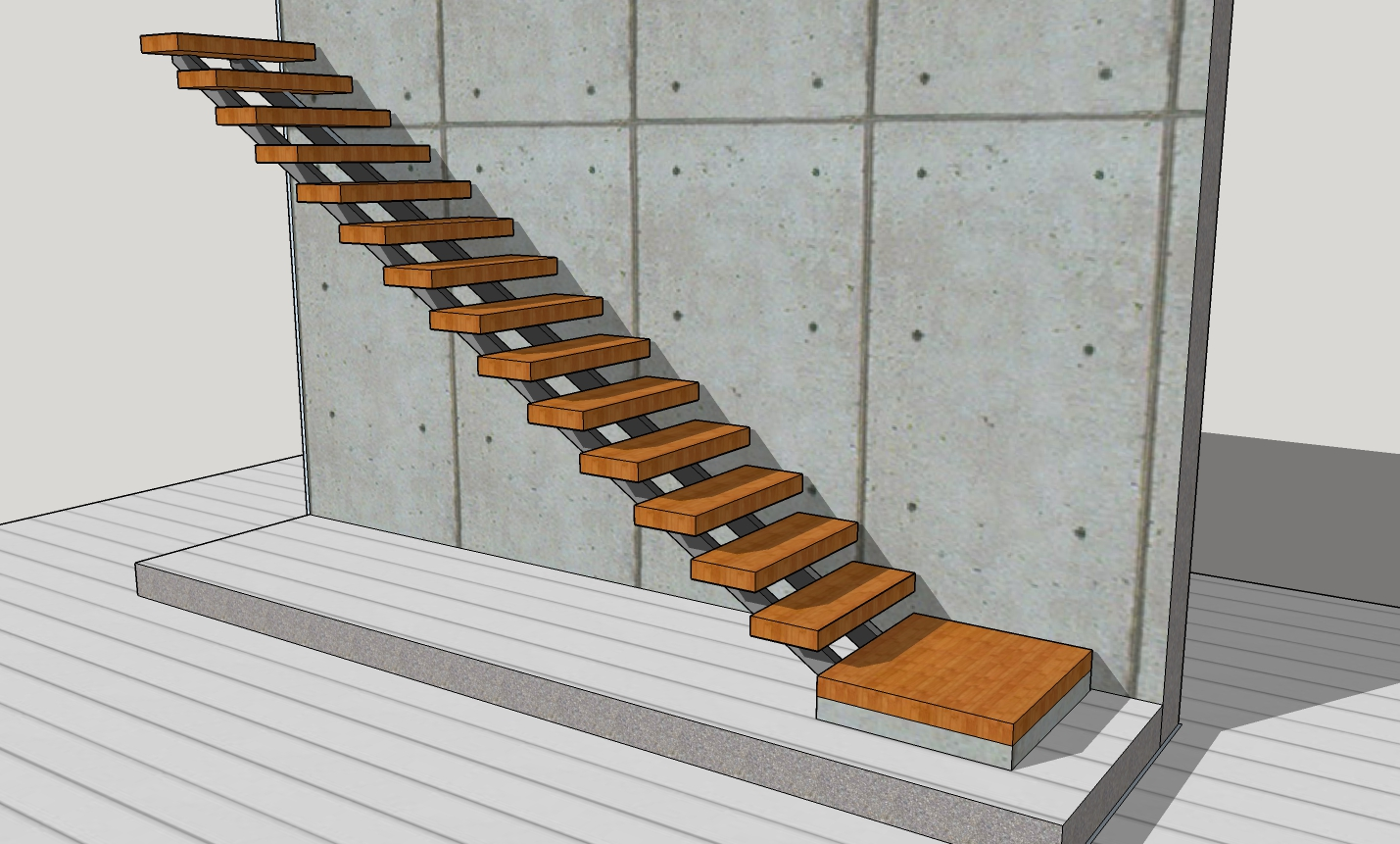 How Hard Would It Be To Make A Modern Staircase To Embellish Your New Build  House? Not Too Hard Is The Answer, As Long As You Design It To Be DIYable  From ...