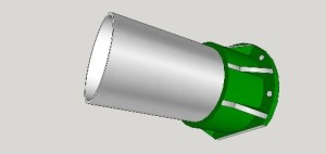 tube and mount for torsional rigidity